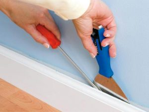 Install them along the baseboard