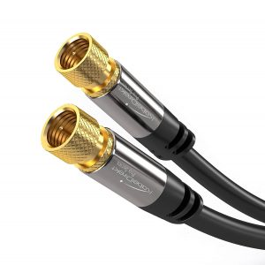 KabelDirekt Digital Coaxial Audio Video Cable – Satellite Cable Connectors