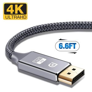 Capshi Nylon Braided 4K DP Cable