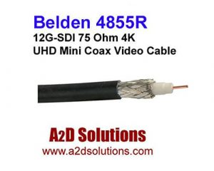 Belden 4855R 4K Ultra-High-Definition Coax Cable for 12G