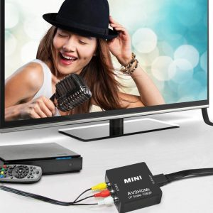 1. RCA to HDMI Converter, AV to HDMI, GOXMGO 1080p Mini RCA Composite