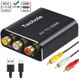 2. RCA to HDMI Audio Converter – Techole Aluminum 1080p