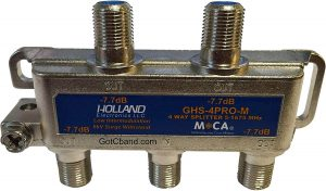 4-Way MoCA Splitter – Holland Electronics
