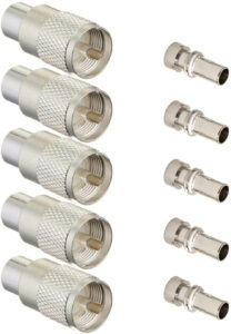 Ancable Silver UHF/PL-259 Male Solder Coax Connector (Pack of 5)