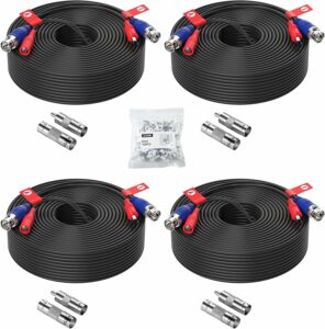 ZOSI 100 feet 2-in-1 Power Cable – 4 Pack
